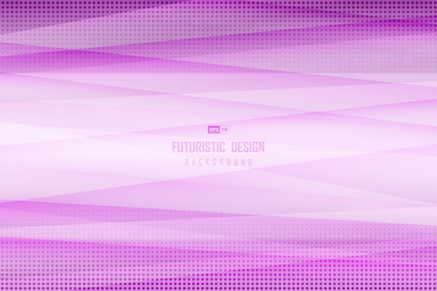 Abstract gradient purple design of line decoration background with halftone.