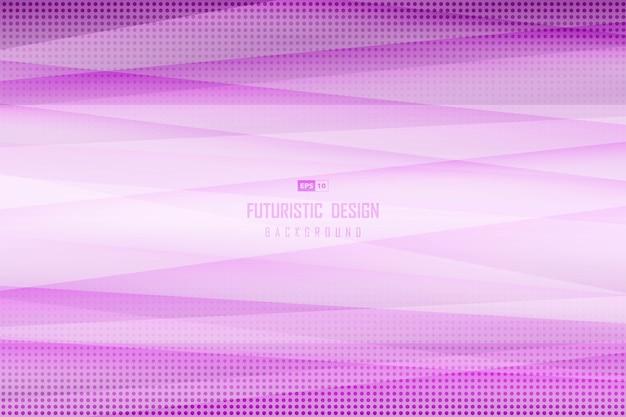 ハーフトーンのライン装飾背景の抽象的なグラデーション紫のデザイン。