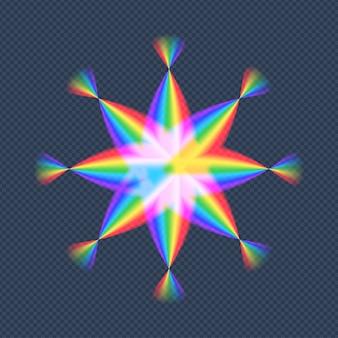 Abstract gradient rainbow star vector illustration