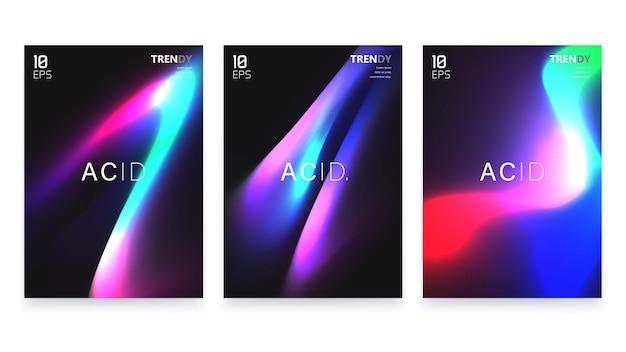 Набор плакатов а4 абстрактные формы градиента.