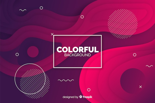 Abstract gradient shapes background