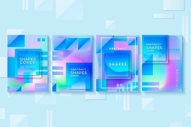 Abstract gradient shapes cover collection concept
