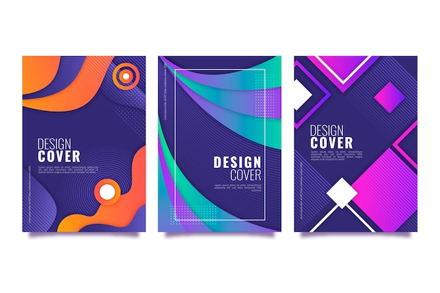 Abstract gradient shapes cover collection theme