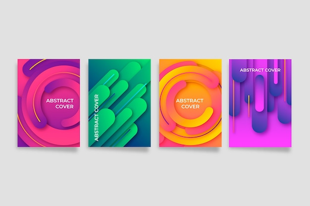Abstract gradient shapes cover collection