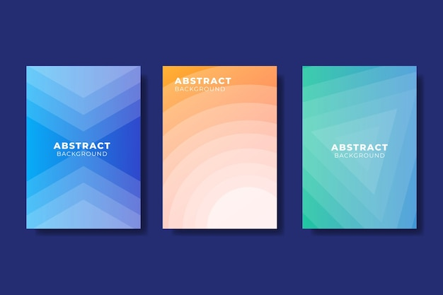 Abstract gradient shapes cover set