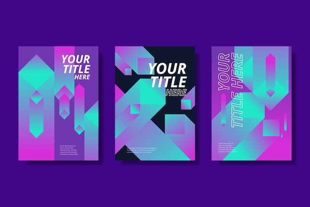 Abstract gradient shapes covers collection