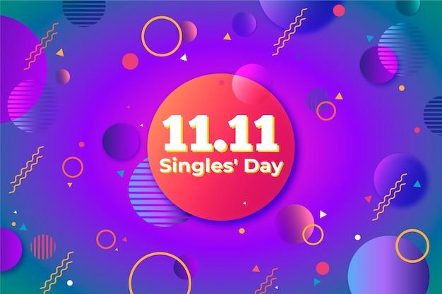 抽象的なグラデーションシングルの日のコンセプト