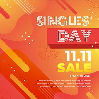 Abstract gradient singles day concept