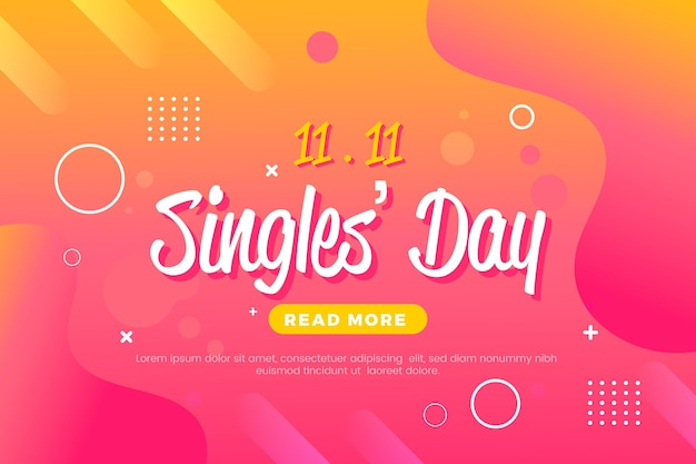Abstract gradient singles day