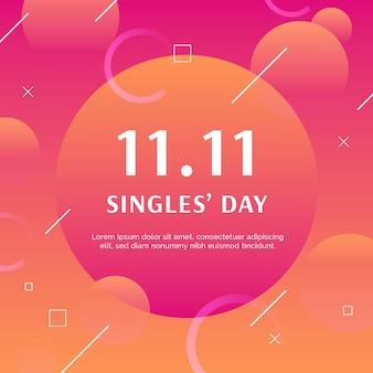 Giorno dei single gradiente astratto