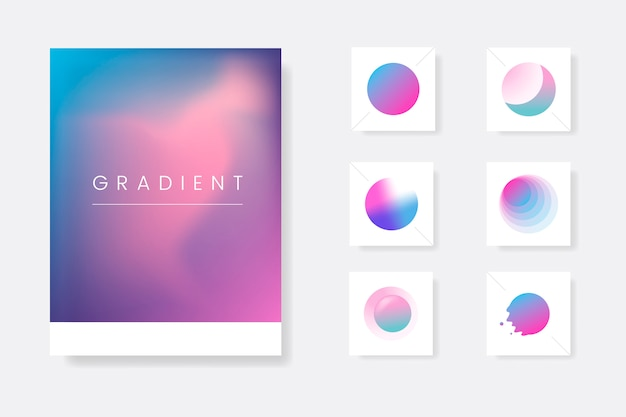 Abstract gradient template set