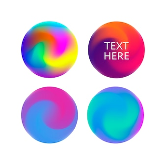 Abstract gradient template