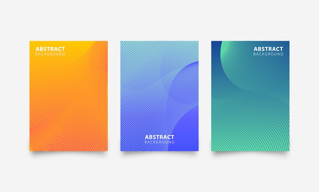 Abstract gradient texture banner set background with line