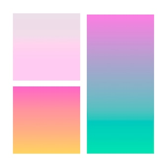 Abstract gradient in violet, pink, blue.