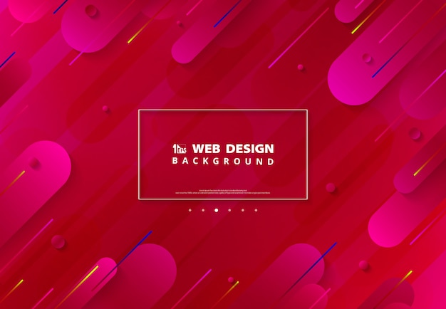 Abstract gradient vivid pink cover  of web page background.