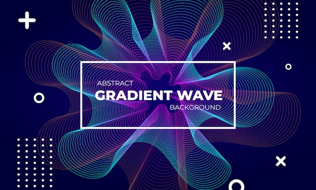 抽象的なグラデーション波背景デザイン