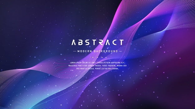 Abstract gradient wave space background