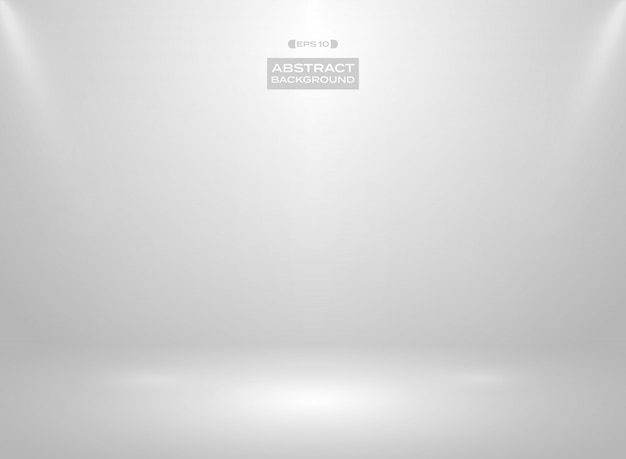 Abstract of gradient white color in studio room background