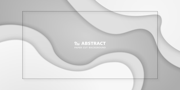 Abstract gradient white paper cut background