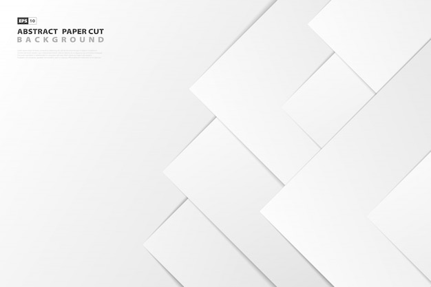 Abstract gradient white paper cut style background