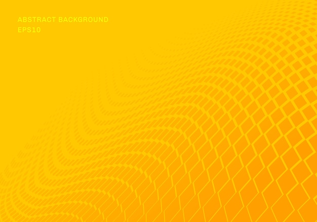 Abstract gradient yellow squares wave background
