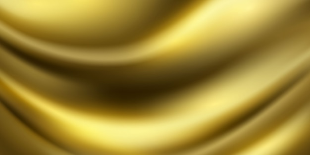 Abstract gradients, fabric gold waves banner template background.