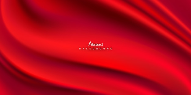 Abstract gradients, fabric red waves  background.