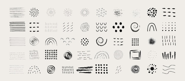 Abstract graphic elements in minimal trendy style