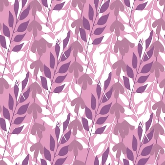 Abstract grass leaves seamless pattern