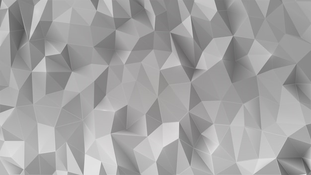 Abstract gray 3d low polygonal background.