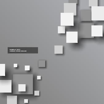 Абстрактный серый 3d квадрат вектор фон