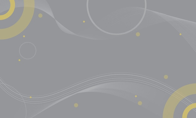 추상 회색과 노란색 물결 모양 및 원형 배경입니다. 소책자, 전단지 패턴입니다.