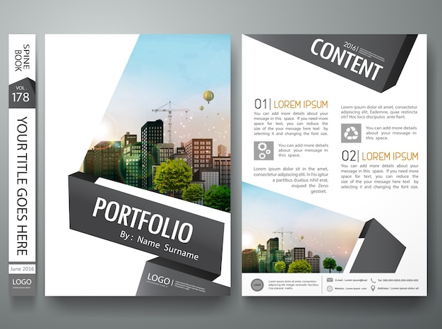 Abstract gray black shape design template