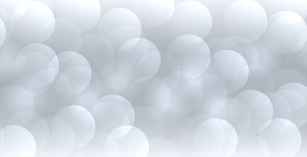 Abstract gray bokeh banner in elegant style