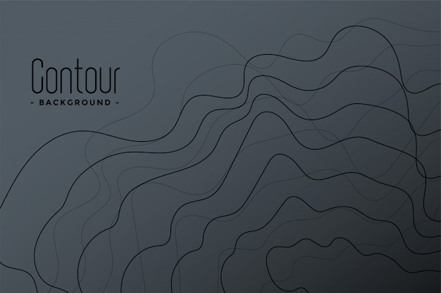 Abstract gray contour lines background