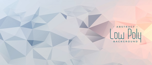 Abstract gray geometric low poly banner design