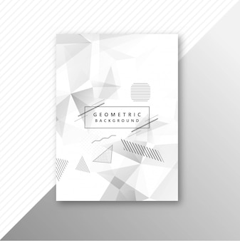 Abstract gray geometric polygon template