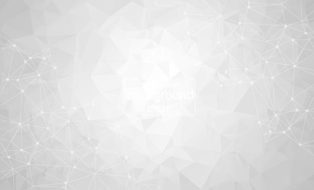 Abstract gray light geometric polygonal background