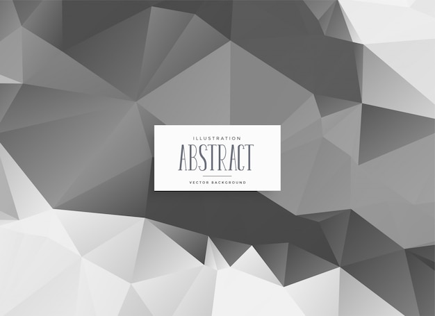 Abstract gray low poly triangle background