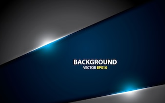Abstract gray metallic blue background vector