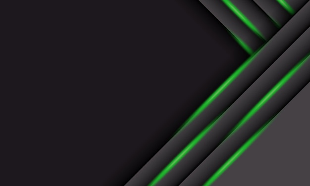 Абстрактные серые перекрывающиеся полосы с зеленым светом и тенью. дизайн для баннерного сайта.