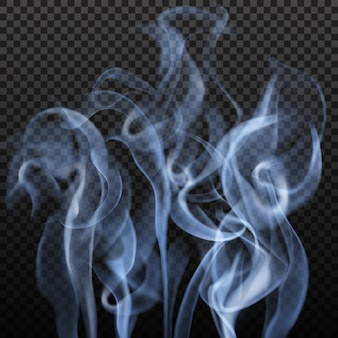 Abstract gray smoke isolated