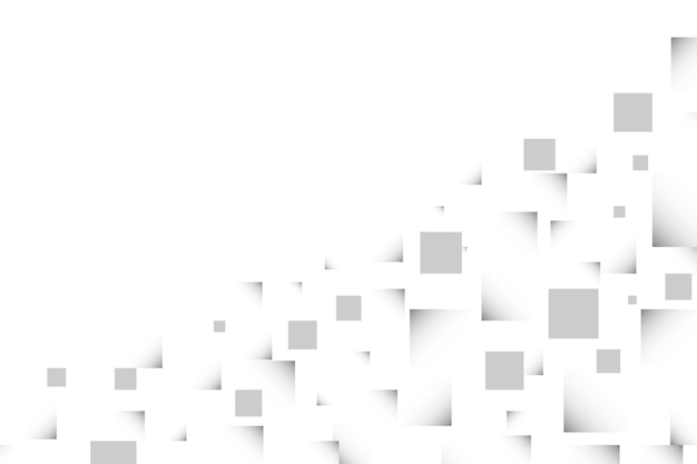 Abstract gray square in different size background vector illustration