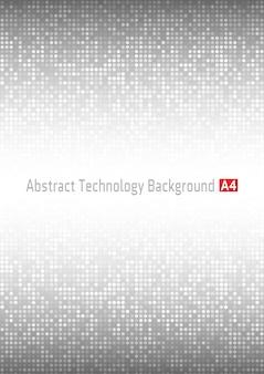 Абстрактный серый фон технологии круг. формат а4.
