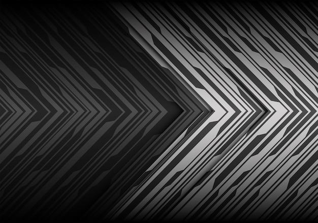 抽象的なグレートーンの矢印パターン未来的な背景。