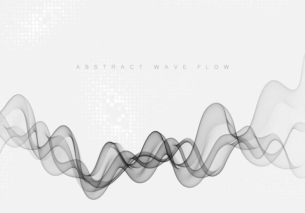 Абстрактный серый фон волны. прозрачная серая волна, элемент дизайна.