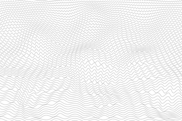 Abstract gray wavy dot design background.