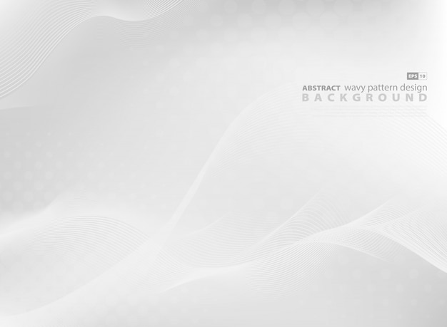 Abstract gray wavy pattern design background of modern tech.