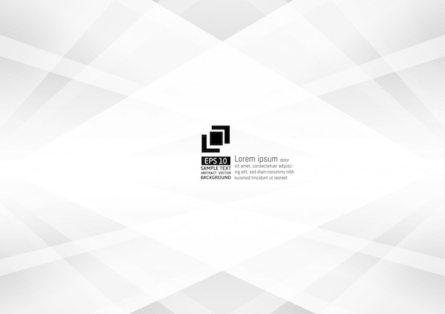 Abstract gray and white color geometric modern design