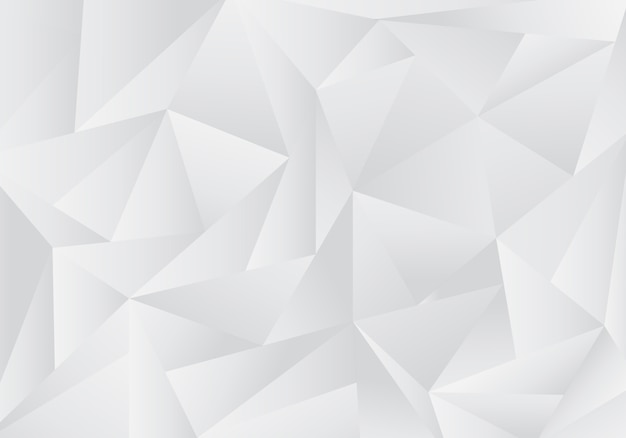 Abstract gray and white low polygon background
